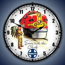 santa fe super chief lighted wall clock
