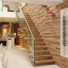 Floating | Straight Stairs Wood TRE-509 | Wood stairs | EeStairs