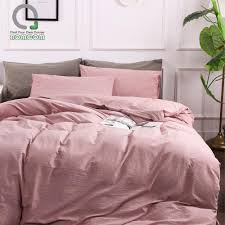 bomcom linen duvet cover set bedding set natural soft linen stone washed casual modern style 100 linen wood rose canada 2019 from crystalstory