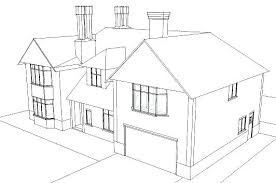 How To Draw A Mansion House House Drawing Easy Jaw Dropping Plain