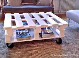 Reclaimed Wood Pallet Coffee TablePallet Coffee Table Plans