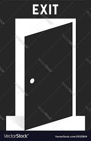 black simple exit door icon on white vector image