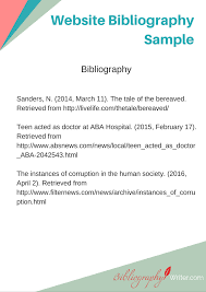 Website Bibliography Sample Album On Imgur