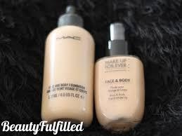foundation mac face body vs mufe face body