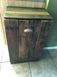 double wooden trash bin wood garbage bin double wooden trash for kitchen tilt out cabinet ti