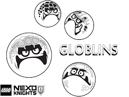 Lego Nexo Knights Coloring Pages Globlins From Monster Army Get