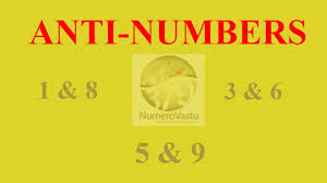 Numerology Friendly Numbers Chart Anti Numbers In Numerology