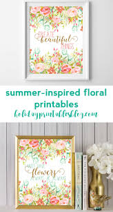 Sharing two floral, summer-inspired printables! Perfect for your summer wall  art or