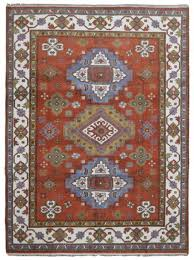 8x10 burnt orange blue kazak hand knotted oriental area rug