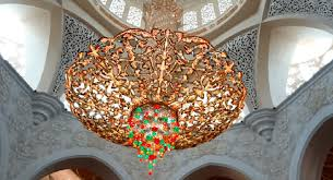 one of world s largest chandelier sheikh zayed grand mosque