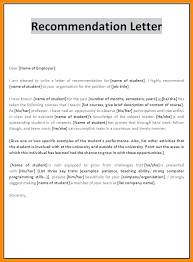 Recommendation Letter For A Student Template Templates Example Of ...