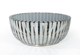 modrest cage modern stainless steel round coffee table w glass top model 16310a