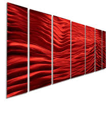red wave metal wall art