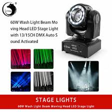 U`King RGBW <b>60W Beam</b> Moving Head Stage Light DMX512 Disco ...