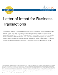 Partnership Letter Of Intent Application For Leave Template