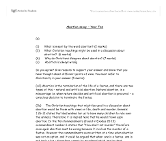 why do christians disagree about abortion gcse religious  document image preview