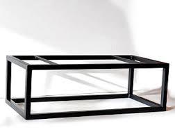 Reclaimed Wood and Metal Two Tier Coffee Table, Welded Steel Frame  industrial-coffee-