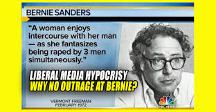 media hypocrisy why no outrage over bernie s essay about women  media hypocrisy why no outrage over bernie s essay about women fantasizing about being raped by 3 men truthfeed