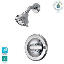 classic single handle 5 spray shower faucet in chrome valve included