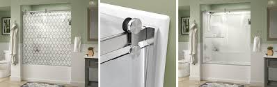contemporary style sliding bathtub door installation