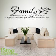 family like branches wall sticker  on home wall art quotes with family wall sticker home kitchen family like branches wall art