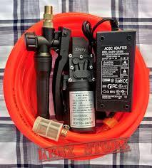 Máy rửa xe mini 12v giá rẻ 6M - Máy xịt rửa đa năng - Bộ máy bơm cao áp mini  12v tiện ích