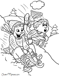 Just cut along the dotted lines. Free Printable Winter Coloring Pages For Kids Crafty Morning