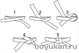 Как завязать <b>пояс</b> на <b>кимоно</b> | клуб Буюкан