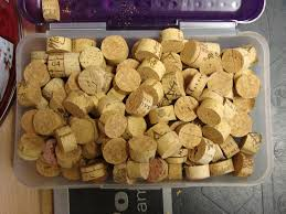 Besides a little Halloween fun on Sunday evening, I spent my Sunday morning  cutting up wine corks into 1/2