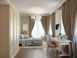 Master Bedroom Curtain Idea With Brown Drapes And White Sheer Curtain