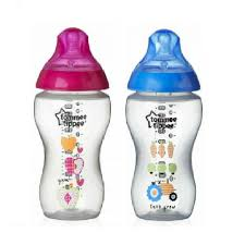 Tommee Tippee Pink Decorated Bottles RM10000100 Tommee Tippee Bottle 100oz Decorated Pink 83