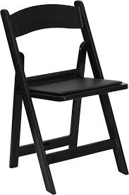 folding chairs black. capacity black resin folding chair with vinyl padded seat [ chairs