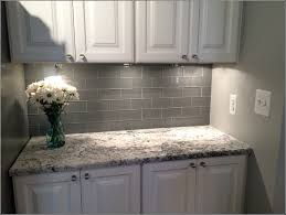 glass subway tile backsplash white cabinets kitchen pale gray ideas allen roth smoke wall and bathroom menards l stick marble stone cutting