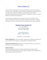 Team Leader Resume Cover Letter Team Leader Resume Cover Letter Warehouse Lead Sle Production Job 9