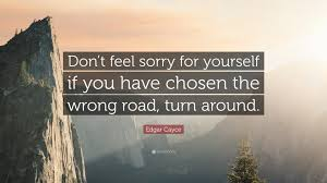 "Never Feel Sorry For Yourself Quotes Best of Edgar Cayce Quote ""Don't Feel Sorry For Yourself If You Have Chosen"