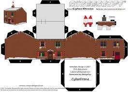 Christmas House Template Best Photos Of 3d Paper House Template Christmas Christmas