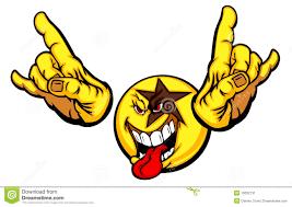 rock star smiley face emoticon