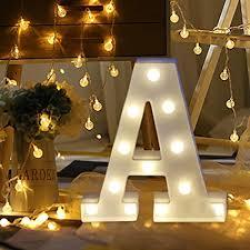letter lighting. Light Up Letters,SMYTShop Warm White LED Letter Alphabet Lights For Festival Lighting H