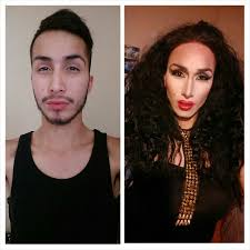 picture of male to female makeup transformation