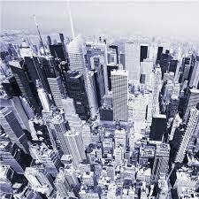 Fotobehang Manhattan Vanuit De Lucht