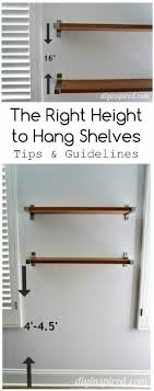 How High To Hang Floating Shelves Amazing The Right Height To Hang Shelves DIY Inspired
