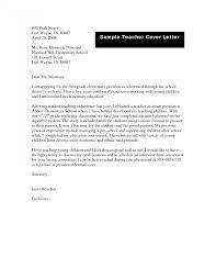 Amusing Elementary Teacher Cover Letter Photos Hd Goofyrooster