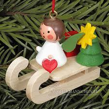 Miniengel Schlitten Christbaumschmuck Weihnachtsbaumschmuck