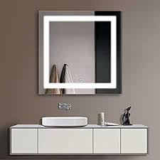 "Amazon Decoraport 36"" Square LED Bathroom Mirror Illuminated"