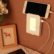 lightmates se001 dusk sensor led night light with 4 us ac sockets 2 1a dual usb ports wall plate charger us plug tvc mall com