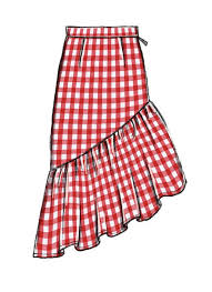 Skirt Patterns Adorable McCall's Skirt Sewing Pattern With Dramatic Ruffle M48 Misses
