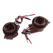 unique bargains 2 pcs 3157 bulb socket car brake turn signal light wire harness connectors walmart at Harness Wire Connectors