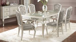 silver dining room sets endearing decor amazing silver dining room throughout silver dining tables