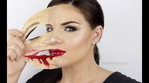 ling face latex skin show your real face makeup tutorial