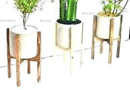 pot stands wood plant stand indoor modern pot stands mid century teak walnut wooden